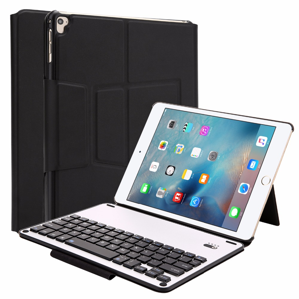 Kemile Portable Removable Smart Aluminum Alloy Bluetooth Keyboard Keypad Case Cover for iPad air&iPad air 2&New iPad &Pro 9.7 все цены