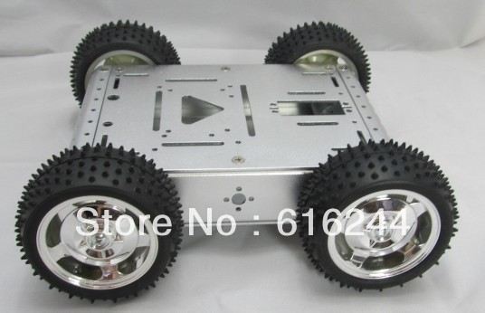 4wd full metal motor full aluminum alloy intelligent barrowload chassis big robot