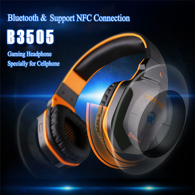 KOTION EACH B3505 Wireless Bluetooth 4.1 Stereo Gaming Headphone Headset Support NFC with Mic for iPhone6/iPhone6 Plus Samsung each g8200 gaming headphone 7 1 surround usb vibration game headset headband earphone with mic led light for fone pc gamer ps4