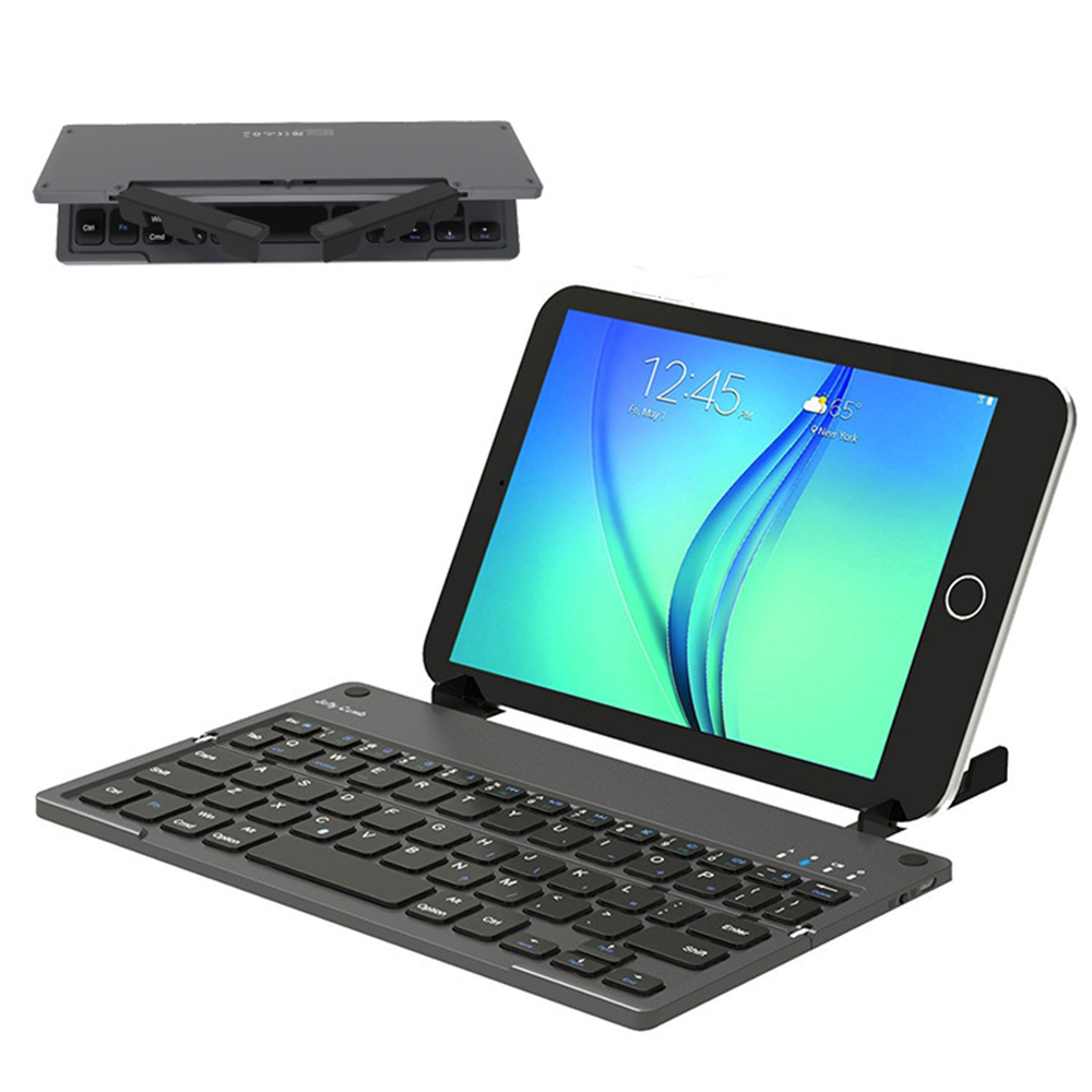 Portable Folding Wireless Bluetooth Keyboard For IPad IOS/Android/Windows Tablet PC Cell Phone