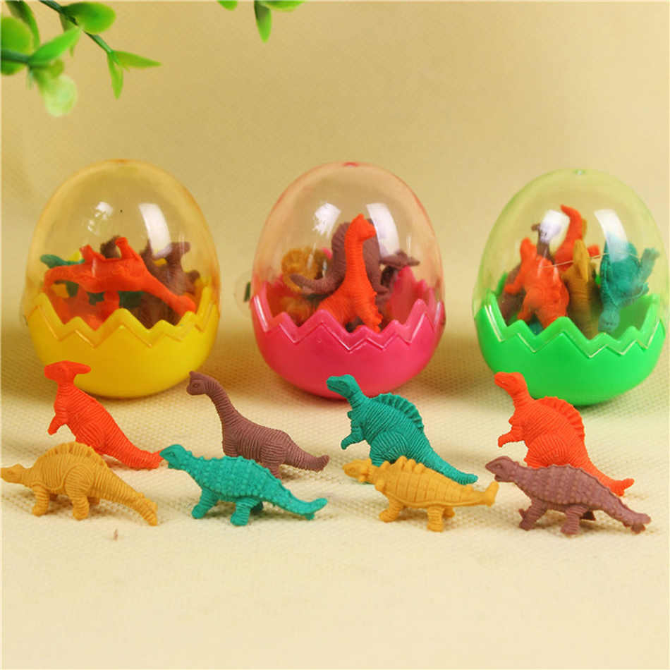 1 Pcs Hot Sale Students Stationary Gift Novelty Dinosaur Egg Pencil Rubber Eraser free s ...