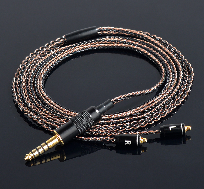 Hand Made DIY Updated 8 Cores 6N Copper Silver Mixed MMCX Headset Line 4.4mm Balanced Cable For Shure UE900 SD6 DAP Sony NW-WM1Z