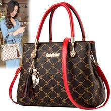 Clutches-Chain Tote Messenger-Bags Women Pu Tassel Mini Solid