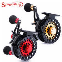 Sougayilang 6+1BB Raft Fishing Reel Baitcasting Right Fly Fishing Wheel Ice Trolling Reels Fishing Gear Tool In Pouch Pesca