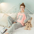 100% Flannel Warm Soft Nursing Tops+Pants for Pregnant Women Winter Long Sleeve Maternity Pajamas Home Wear Nice Valentine Gifts