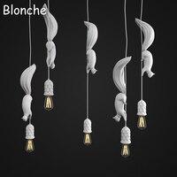 Nordic Squirrel Pendant Lights Lamp Led Hanglamp Modern Loft Industrial Hanging Fixtures for Children's Room Kitchen Home Decor