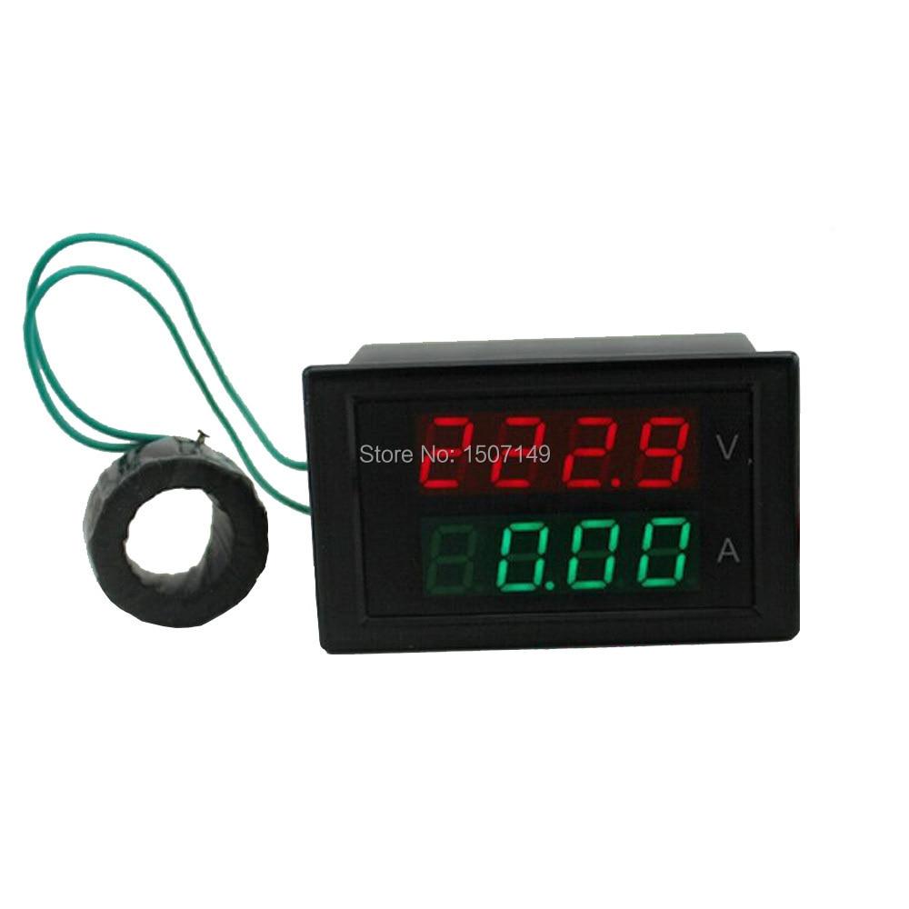 High Accuracy Ac200 450v 199a Dual Lcd Digital Display Voltage Amp Led Voltmeter Besides Dc Circuit 1 X Ac