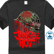 лучшая цена Jungle Rot Men'S Full Metal Rot T Shirt Black