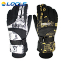 LOCLE Winter Warm Windproof Ski Gloves Outdoor Sports Comfortable Men or Women Snowboard Gloves or Skiing Gloves