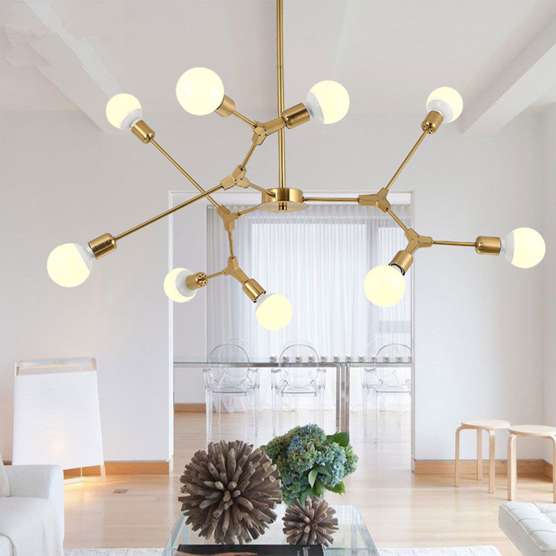 3 6 9 Heads Nordic Creative Modern Simple Restaurant Pendant Light Livingroom Bedroom Cafe Bar Decoration