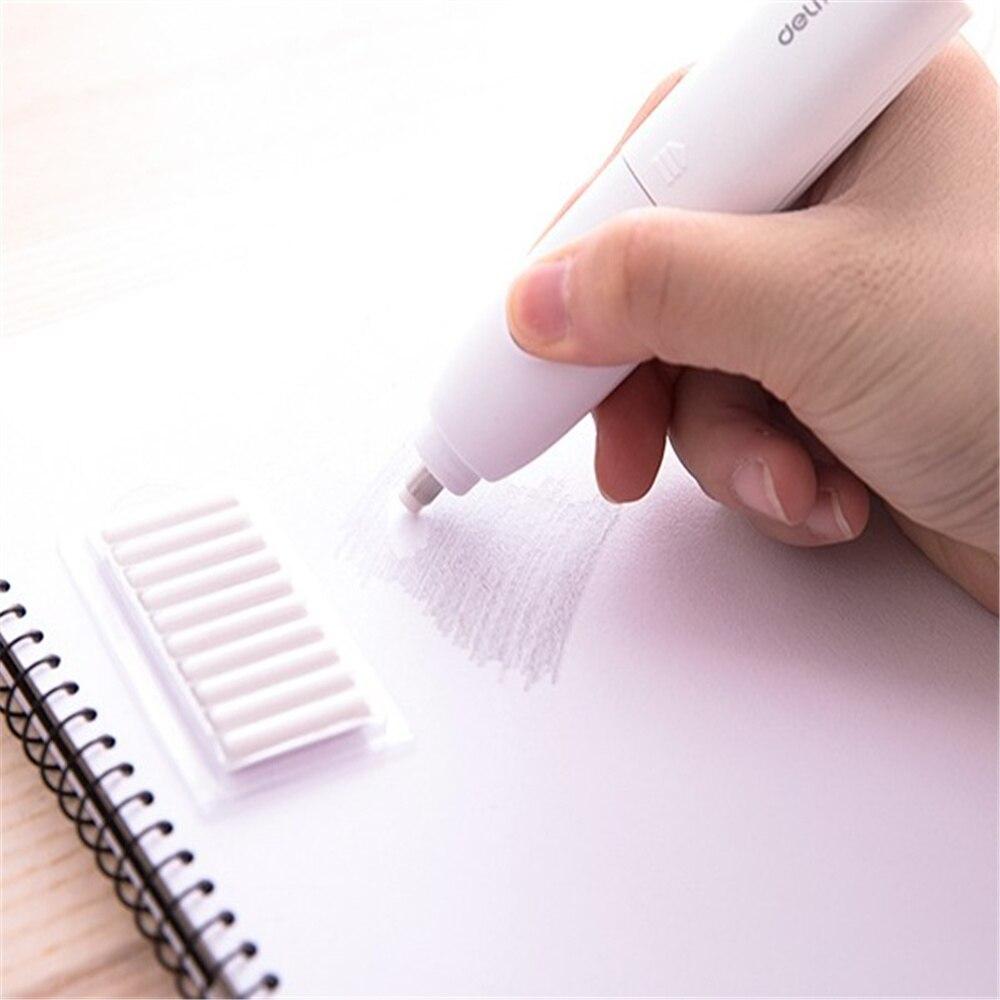 Electric Eraser Kit Pencil Automatic Eraser With 60pcs Rubber Refills For Artist Painter Student Designer