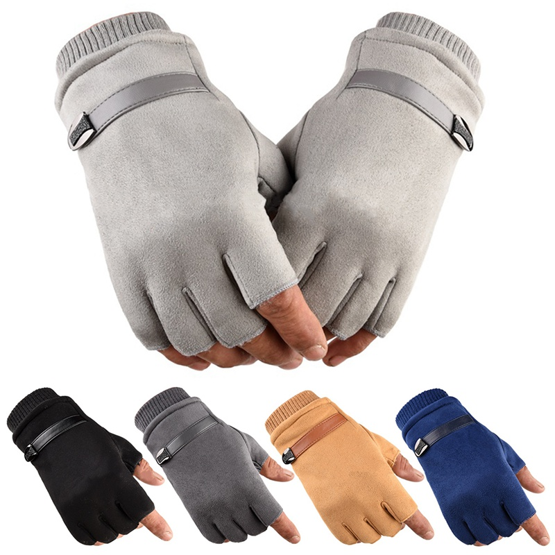 Men Women Fitness Ladies Hand Wrist Warmer Winter Fingerless Thicken Hot Gloves Mitten Female Moto Gloves Without Finger