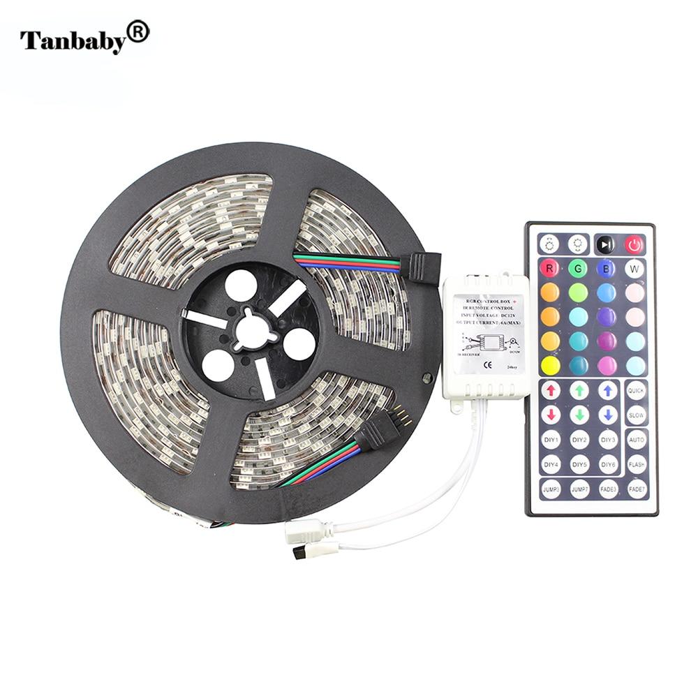 Tanbaby DC12V RGB vodila trak svetlobe 5050 smd 5M 300led IP65 - LED osvetlitev