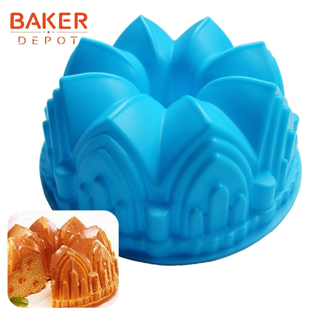 대형 크라운 실리콘 케이크 금형 빵 베이킹 도구 참신 케이크 bakeware 금형 빵 pastyr 금형 DIY 생일 웨딩 케이크