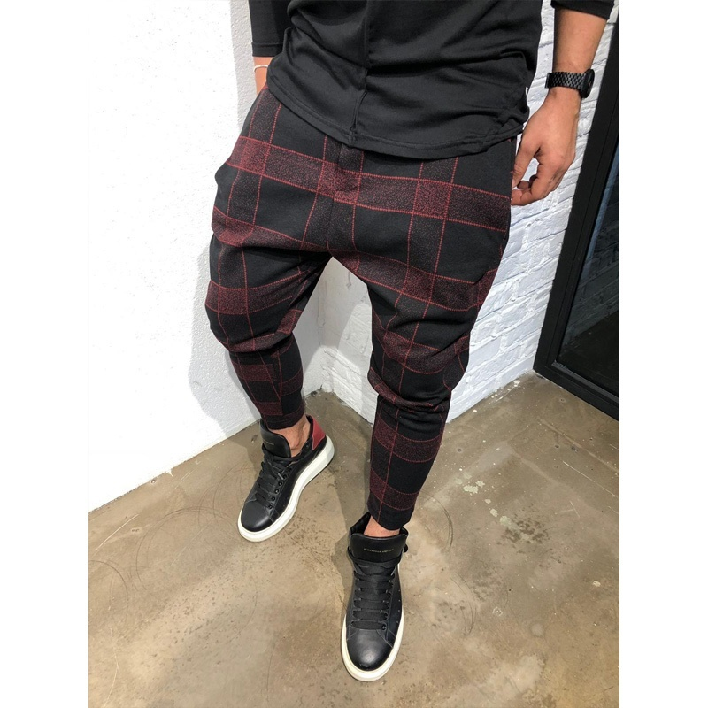 ZOGAA Casual Plaid Ankle-Length Pants Men Trousers Hip Hop Jogger Pants Men Sweatpants Japanese Street Wear Men Pants 2019 New