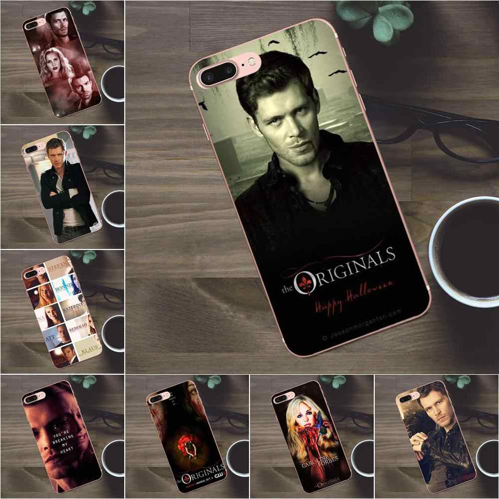 Lembut TPU Ponsel Shell untuk Apple Iphone 4 4 S 5 5C Se 6 6 S 7 7 Plus X galaxy A3 A5 J1 J2 J3 J5 J7 2017 The Vampire Diaries Klaus