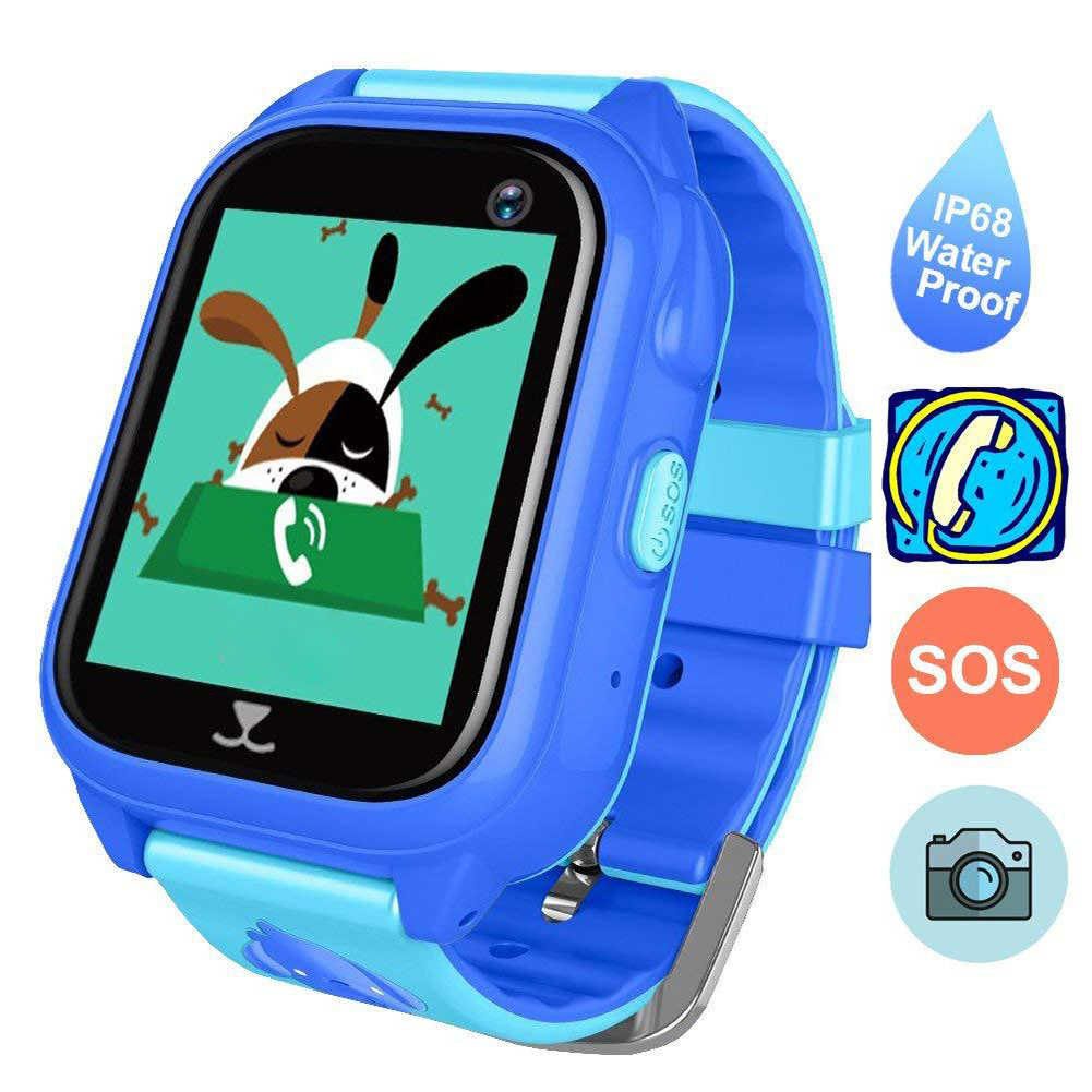 Kids SOS Call IP67 Waterproof Position Location Monitor Swimming Smart Watch For IOS Android Anti-lost GPS Tracker Wireleess