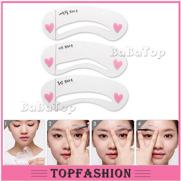 image regarding Eyebrow Template Printable named US $1.54 3 Patterns Forehead Painted Design and style Stencil Package thrush card eyebrow stencils , eyebrow template generate up eyebrow styling instrument incredibly hot gross sales di Stensil