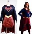 Supergirl adultos Traje de Falda de Capa de la Película de Halloween Carnaval Cosplay Para Las Mujeres Por Encargo Más El Tamaño
