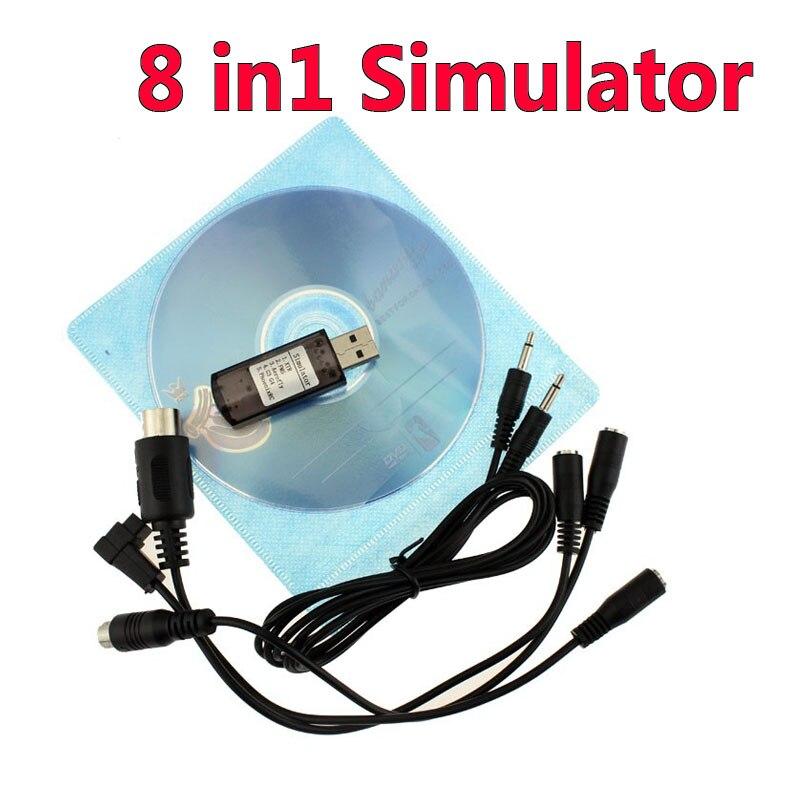 High Quality 8 In 1 Simulator 8in1 USB For (Phoenix,RealFlight G4,XTR,AeroFly,FMS) Support Futaba ESky JR WFLY