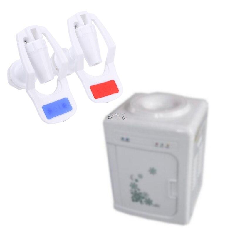 2Pcs/set Water Dispenser Replacement Push Type White Plastic Tap Faucet For Water Dispenser Accessories Part