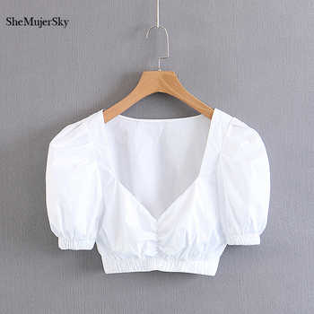 SheMujerSky White Tank Top Women Sexy Bustier 2018 Summer Top Crop Tops debardeur femme - DISCOUNT ITEM  32% OFF All Category