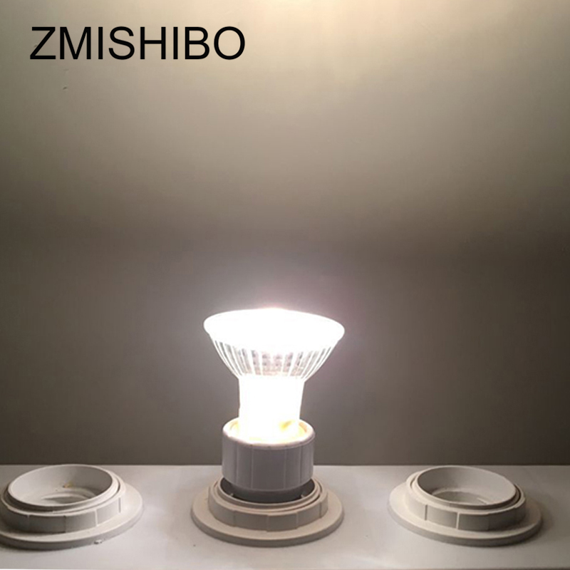 Купить с кэшбэком ZMISHIBO 10Pcs/Lot Halogen GU10 Bulb 220V 35W 50W Diameter 50MM MR16 Clear Glass With Cover Dimmable Warm White 2700K Spot Lamp