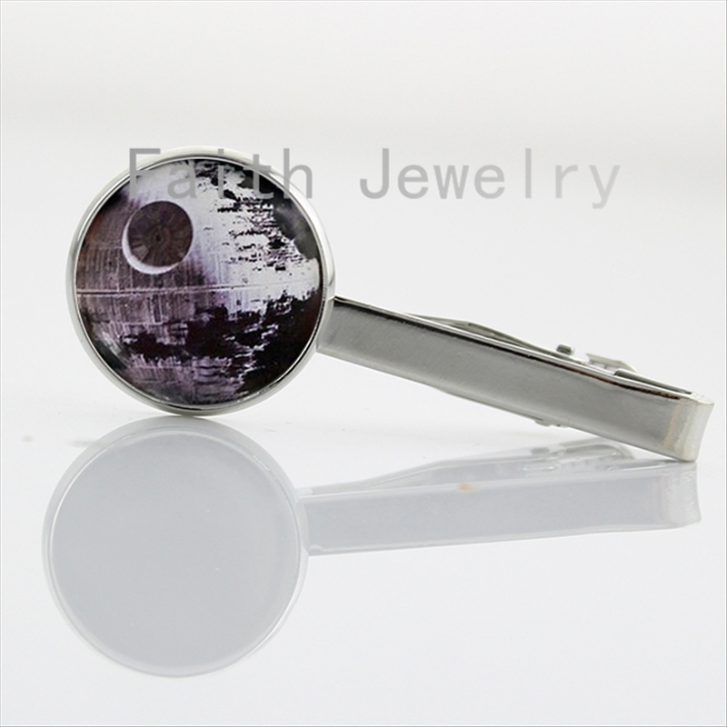 Death Star cravatta clip per Star Wars Gioielli Da Vinci Fascino Cravatta Bar Chiusura Morsetto Pin cool uomo accessori Starwars NS189