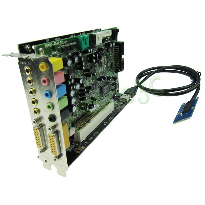 Mini pcie to 2 pci slot adapter 1