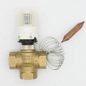 Image 1 - Energy saving 30 70 degree control Floor heating system thermostatic radiator valve M30*1.5 Remote controller 3 way brass valve