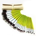 23 pcs Green Bamboo Handle Pincéis de Maquiagem Definir Pó Blush Foundation Escova Da Sombra Beauty Make up Ferramenta Cosmitics
