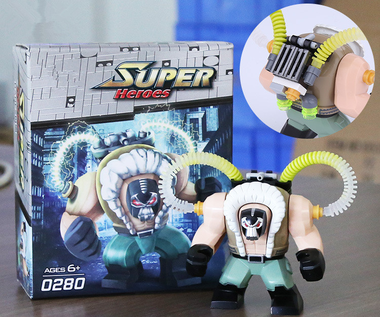 Blocks Decool 0280 0281 Super Heroes Single Sale 7cm Big Size Bane Thanos Carnage Hulk Moana Toxin Bricks Building Blocks Children Toys Toys & Hobbies