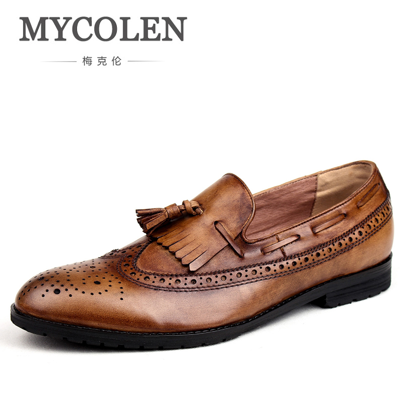 MYCOLEN New Fashion Men Moccasins Genuine Leather Casual Slip On Outdoor Driving Shoes Spring Autumn Zapatillas Hombre Casual mycolen new slip on casual men loafers spring and autumn moccasins mens shoes genuine leather men s shoes zapatos hombre
