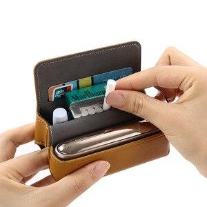Image 3 - Funda de cuero tipo billetera con tapa a la moda para IQOS 3,0 bolsa soporte caja funda para IQOS 3 funda, soporte