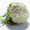 2016 PE Artificial Flor Rosa buquê De Casamento Buquê de Flores buquê de Noiva dama de honra buque de noiva FW161