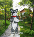 New High quality grey wolf fursuit fox Mascot Costume costume cosplay halloween costume christmas Crazy Sale