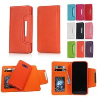 2 In 1 Magnetic Buckle Flip Wallet Leather Case For IPhone 7 6S Plus 5S 5C