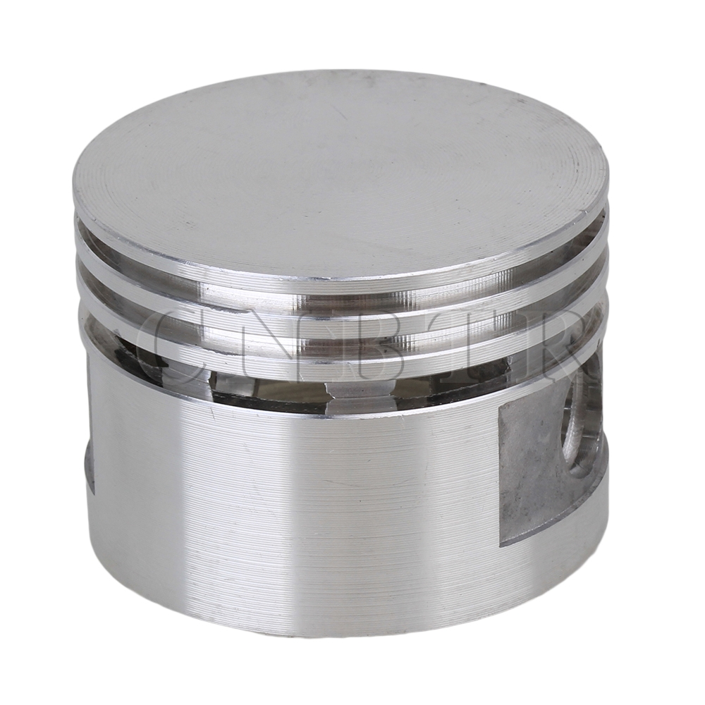 CNBTR  Air Compressor Silver Tone 48mm Dia Aluminum Alloy Engine Piston 12mm Bore silver tone aluminum alloy air compressor connecting rod 12mm x 20mm x 69mm