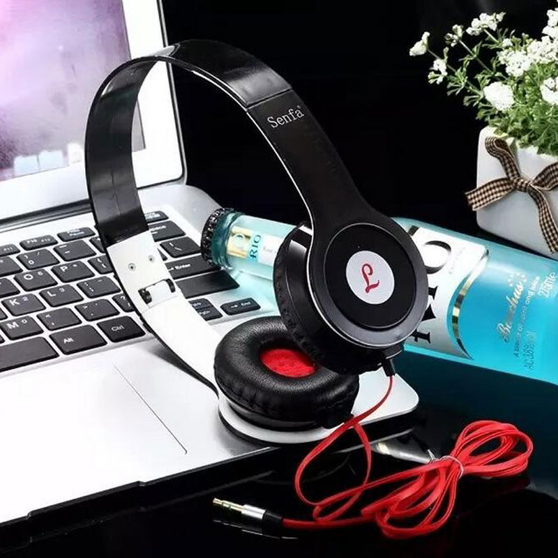 2016 hot Heavy Bass Comfortable Computer Games Sports Headphone Jack folding Earphone Headset for pc iphone