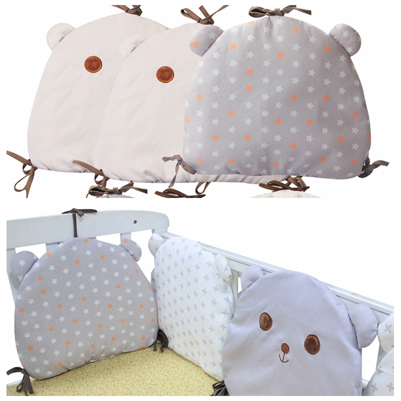 6Pcs Hot Baby Bed Crib Bumper Infant Bedding Set Cotton Newborn Bumpers Infant Backrest Safe Fence Line Cot Protector