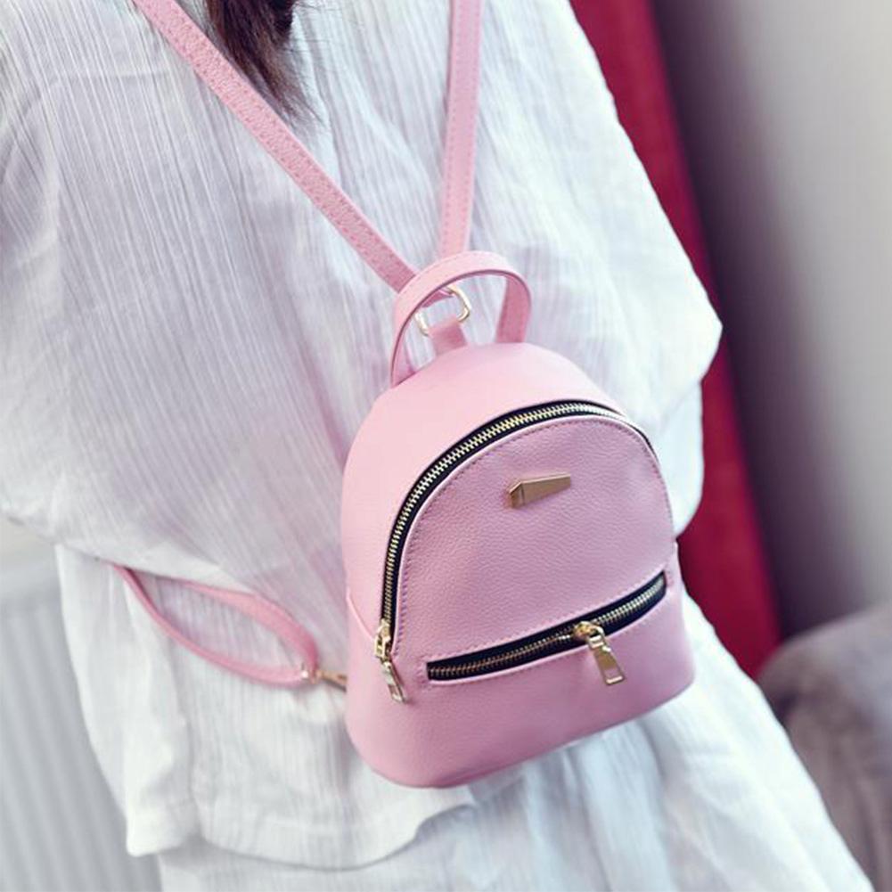 HTB1czjuXv1G3KVjSZFkq6yK4XXaX Hot Fashion Women Girls Mini Backpack Leather Shoulder School Rucksack Ladies Holiday Travel Bag 2019 New