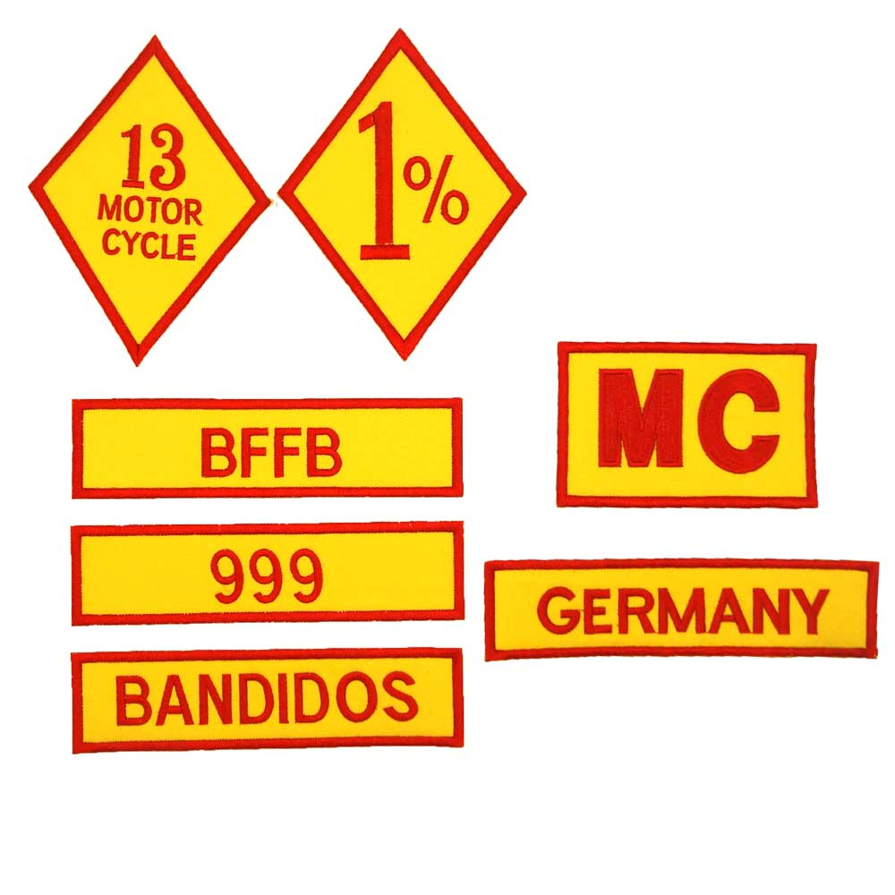 GERMANY <font><b>1</b></font>%ER BFFB <font><b>MC</b></font> Embroidered Applique punk biker <font><b>Patches</b></font> Clothes Stickers Apparel Accessories Badge image