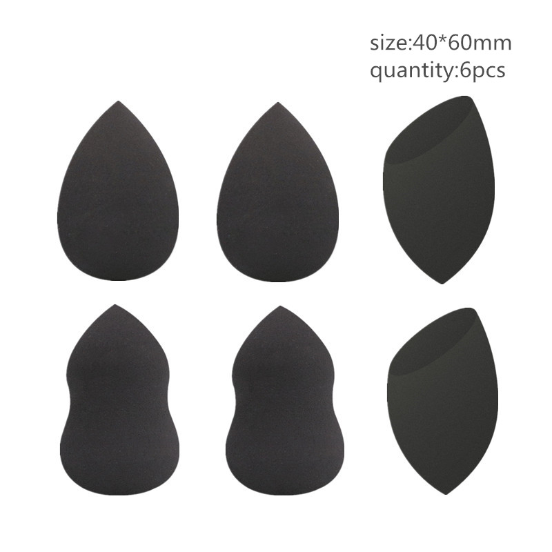 1/3/5/6 Pcs High Quality Black Sponge Foundation Powder Smooth Makeup Sponge For Lady Make Up Cosmetic Puff Hot YA95