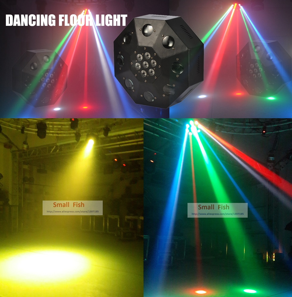 Eyourlife Free Shipping 2015 New Led Dancing Floor Light 120W RGBW Moving Head Stage Lighting DJ DMX Disco Laser Projector Light eighty percent new laser head kss 151a