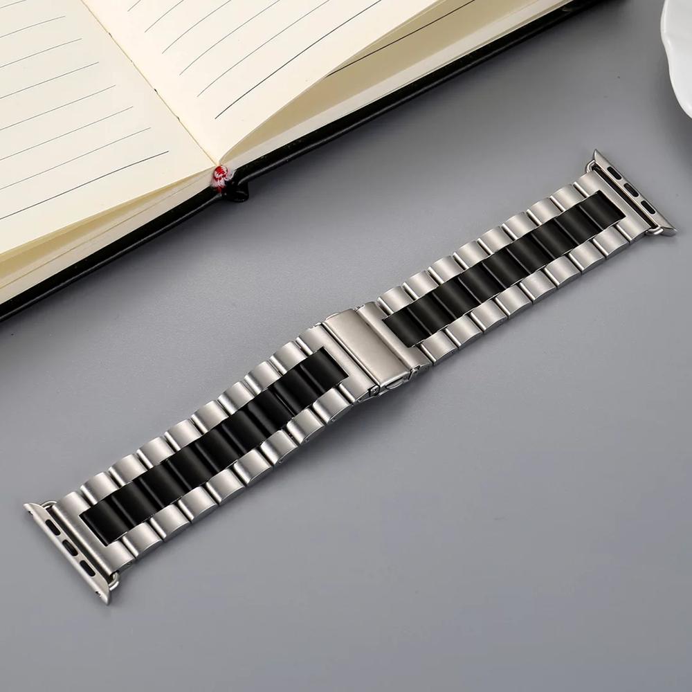 Prix pour 42/38mm En Acier Inoxydable Métal Montre-Bracelet de Bande pour Apple Watch iwatch Bracelet Bracelet Hommes De Luxe Sport Bande 102.