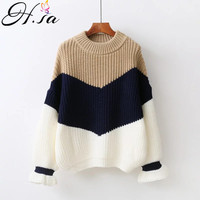 H SA Winter Pull Sweaters Women 2017 Fashion Loose Jumpers Korean Pullovers Knitting Pullovers Thick Christmas