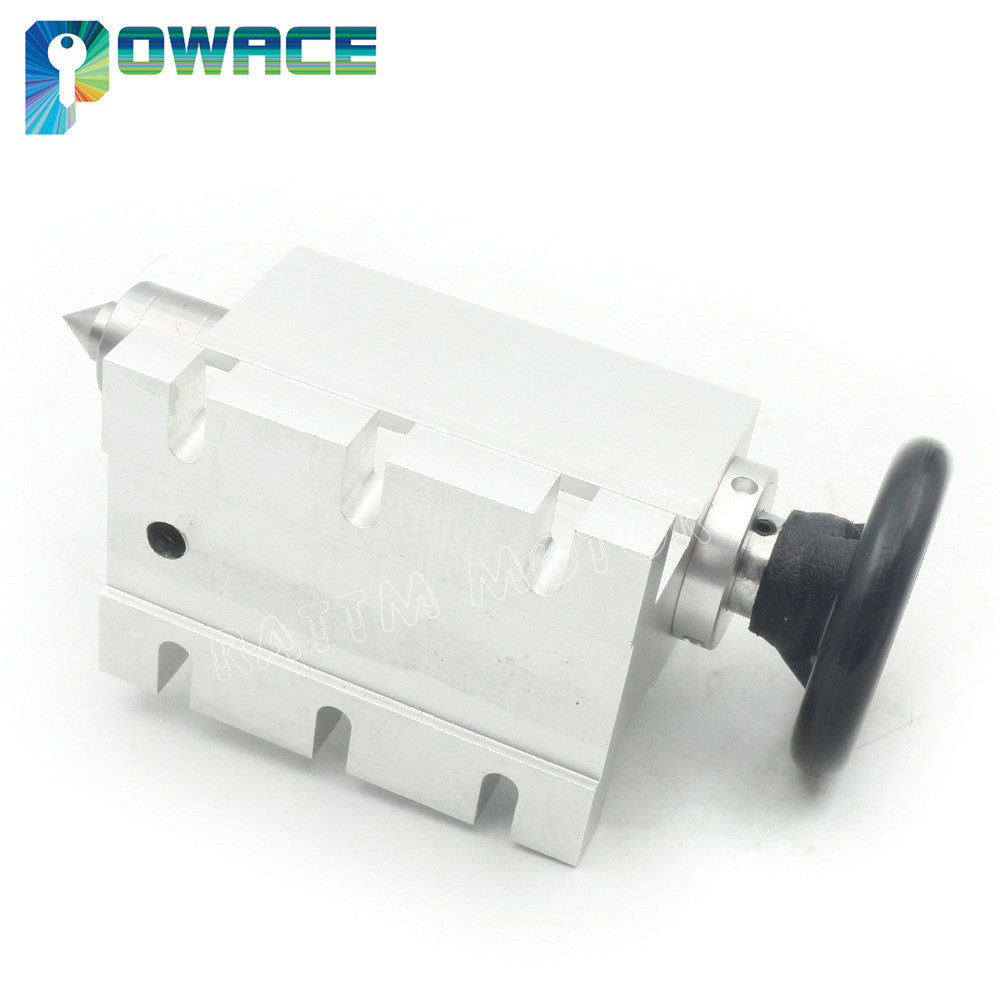 [EU Delivery] K11-100mm Rotation 4th Axis 3 Jaw Chuck Nema23 57mm 3A 2-phase 4 wire+65mm Tailstock for CNC Router