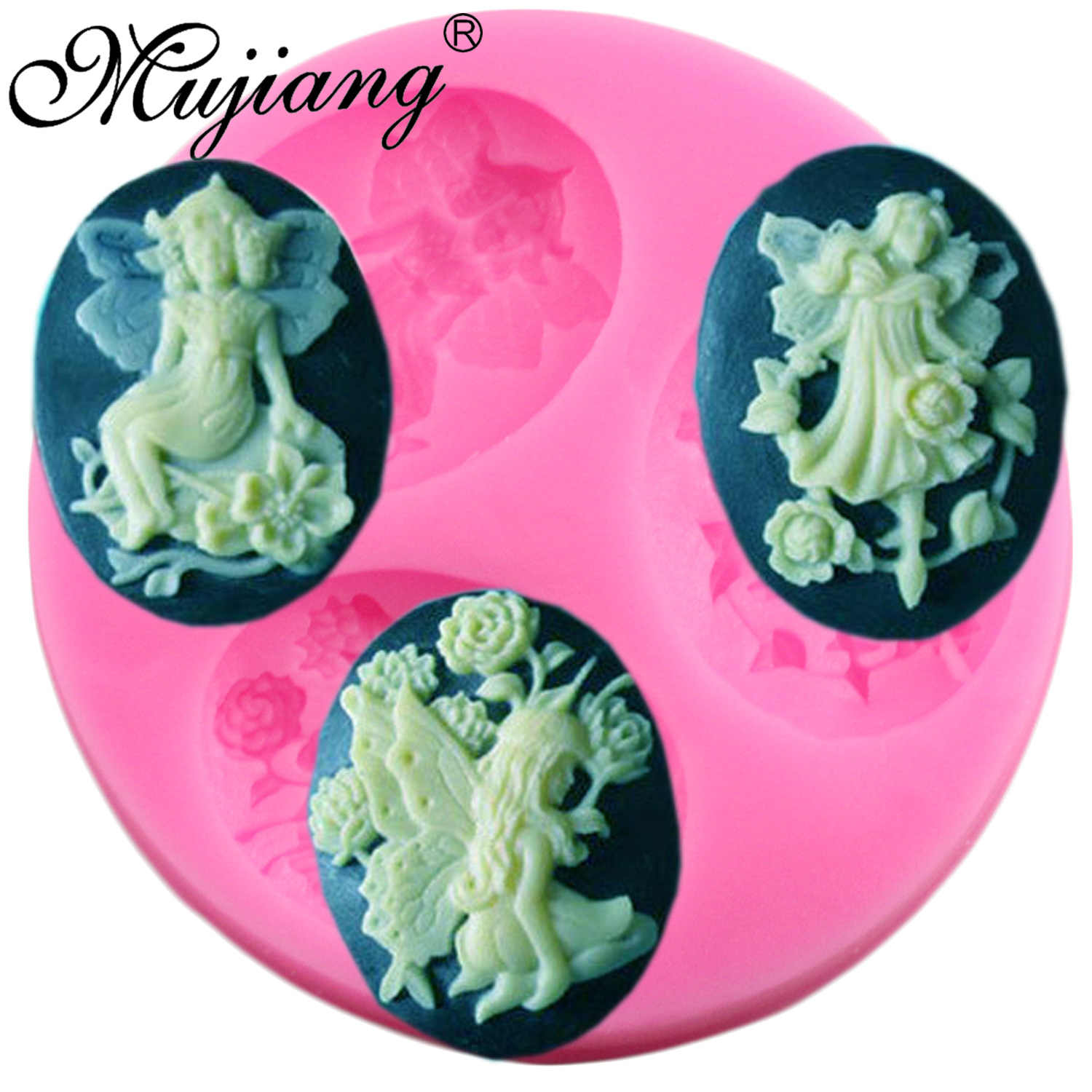 Mujiang Angel Fairy Silicone Fondant Molds Sugarcraft Party Cake Decorating Tools Candy Fimo Clay Chocolate Gumpaste Moulds