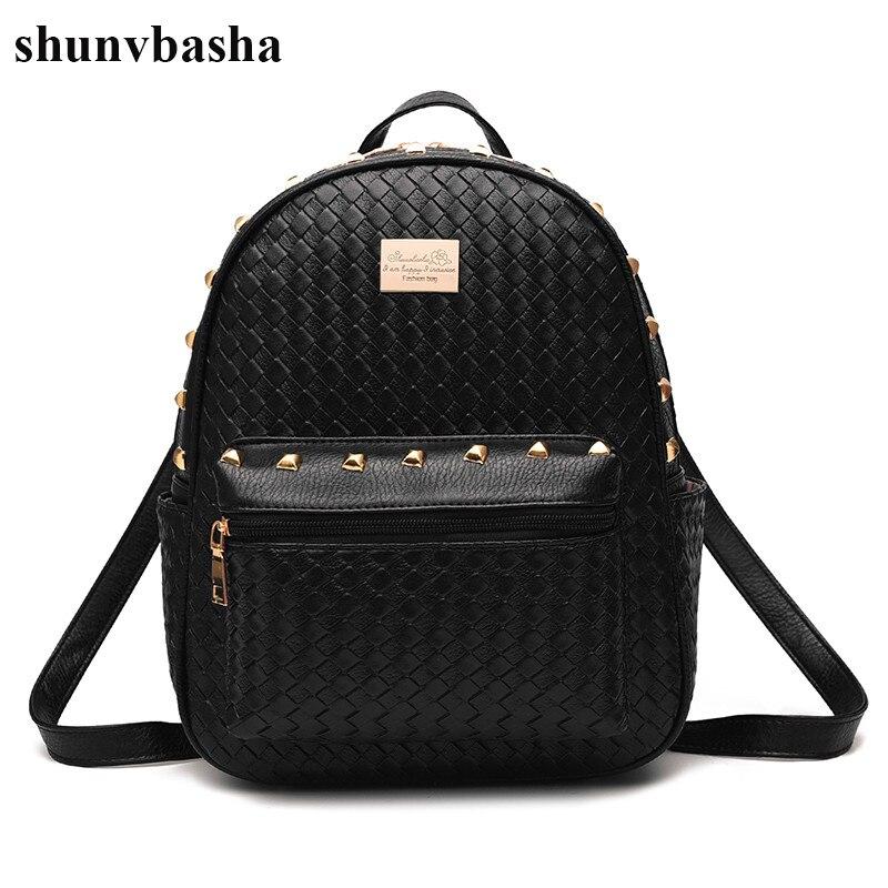 Luxury Brand Backpacks Women Leather School Bag For Teenage Girls Casual Top-handle Backpack Fashion Mochila Escolar Female 2017