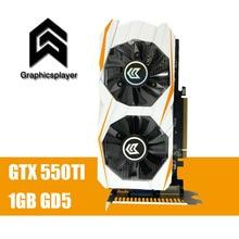 Pour Bureau 1 GB DDR5 192Bit GTX550TI PC Carte Graphique pci-express Placa de Vidéo carte graphique Carte Vidéo pour Nvidia geforce